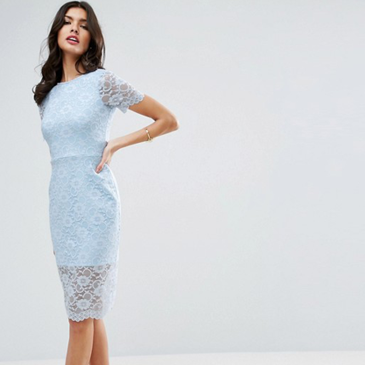 Something Blue Asos Midi